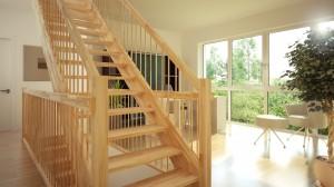 Innnenraumvisualisierung einer Treppe: Immobilien Visualisierung